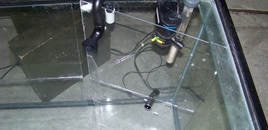 Plexy glass corners preping for the background