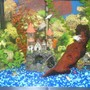 20 gallons freshwater fish tank (mostly fish and non-living decorations) - Our Freswater Tank. Decorations and fish selected by our kids. This was a present for their 8th birtday.